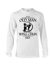 Never Underestimate Old Man Wing Chun July Long Sleeve Tee thumbnail