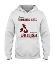 Just An Indiana Girl In British World Hooded Sweatshirt tile