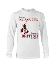 Just An Indiana Girl In British World Long Sleeve Tee thumbnail