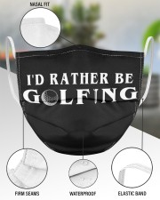 I'd Rather Be Golfing  3 Layer Face Mask - Single aos-face-mask-3-layers-lifestyle-front-49