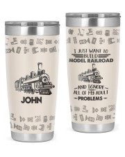 Train I just want Personalized Christmas Gift 20oz Tumbler front