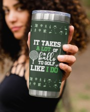 It takes a lot of balls to golf Christmas Gift 20oz Tumbler aos-20oz-tumbler-lifestyle-front-93