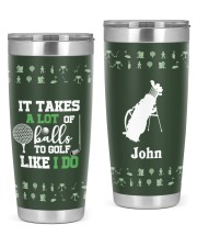 It takes a lot of balls to golf Christmas Gift 20oz Tumbler front