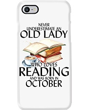 Never Underestimate Old Lady Reading October Phone Case thumbnail