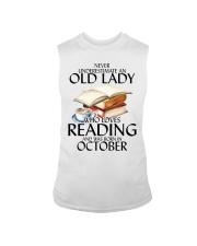 Never Underestimate Old Lady Reading October Sleeveless Tee thumbnail