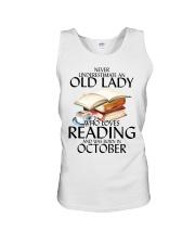 Never Underestimate Old Lady Reading October Unisex Tank thumbnail