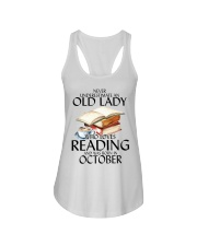 Never Underestimate Old Lady Reading October Ladies Flowy Tank thumbnail
