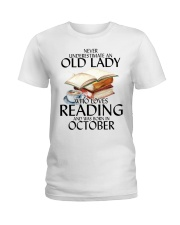 Never Underestimate Old Lady Reading October Ladies T-Shirt thumbnail