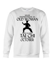 Never Underestimate Old Woman Tai Chi October  Crewneck Sweatshirt thumbnail