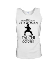 Never Underestimate Old Woman Tai Chi October  Unisex Tank thumbnail