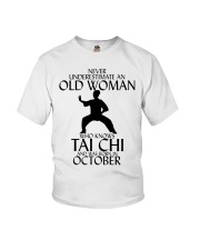 Never Underestimate Old Woman Tai Chi October  Youth T-Shirt thumbnail