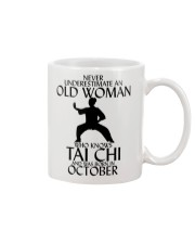 Never Underestimate Old Woman Tai Chi October  Mug tile