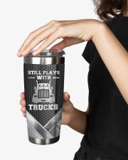 Still Plays With Trucks To my husband from wife 20oz Tumbler aos-20oz-tumbler-lifestyle-front-25