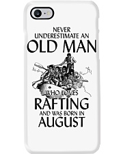Never Underestimate Old Man Loves Rafting August Phone Case thumbnail