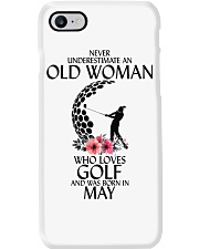 Never Underestimate Old Woman Golf May Phone Case thumbnail