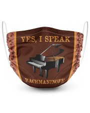 Yes I speak Rachmaninoff-Piano 2 Layer Face Mask - Single front