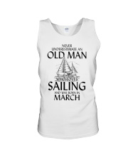 Never Underestimate Old Man Loves Sailing March Unisex Tank thumbnail