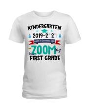 KINDERGARTEN ZOOMING INTO  FIRST GRADE Ladies T-Shirt thumbnail