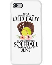 Never Underestimate Old Lady Softball June Phone Case tile