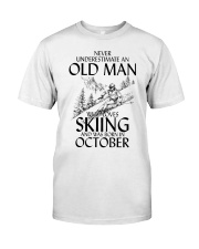 An Old Man Loves Skiing October Classic T-Shirt front