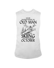 An Old Man Loves Skiing October Sleeveless Tee thumbnail