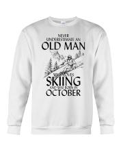 An Old Man Loves Skiing October Crewneck Sweatshirt thumbnail