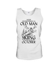 An Old Man Loves Skiing October Unisex Tank thumbnail