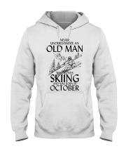 An Old Man Loves Skiing October Hooded Sweatshirt thumbnail