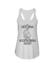 Never Underestimate Old Man Woodworking August Ladies Flowy Tank thumbnail