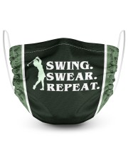 Swing Swear Repeat  2 Layer Face Mask - Single front