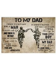 To My Dad From Son-Veteran 24x16 Poster front