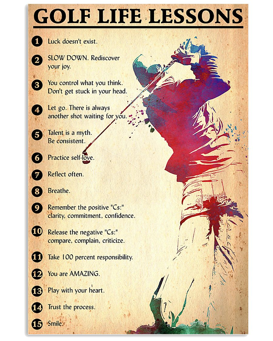 Golf life lessons 24x36 Poster