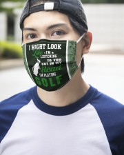 I Might Look Like I'm Listening To you-Golf 3 Layer Face Mask - Single aos-face-mask-3-layers-lifestyle-front-14