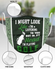 I Might Look Like I'm Listening To you-Golf 3 Layer Face Mask - Single aos-face-mask-3-layers-lifestyle-front-49