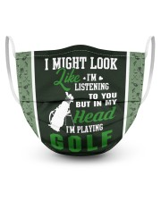 I Might Look Like I'm Listening To you-Golf 3 Layer Face Mask - Single front