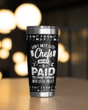 Don't Mess With Chefs Personalized 20oz Tumbler aos-20oz-tumbler-lifestyle-front-04
