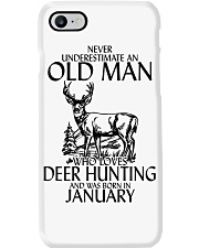 Never Underestimate Old Man Deer Hunting January Phone Case thumbnail