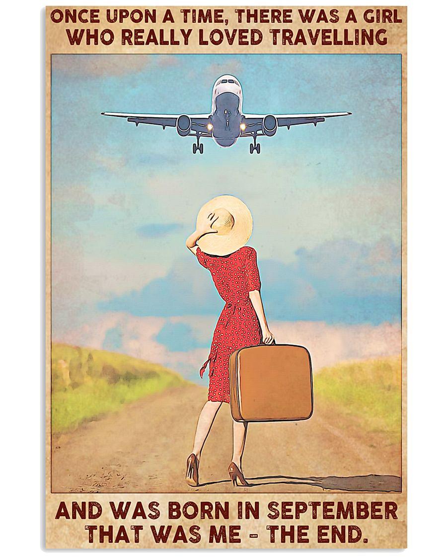 Girl Loves Travelling Born In September 24x36 Poster