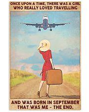 Girl Loves Travelling Born In September 24x36 Poster front