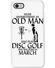 Never Underestimate Old  Man Disc Golf March Phone Case thumbnail