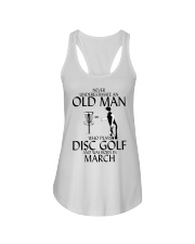 Never Underestimate Old  Man Disc Golf March Ladies Flowy Tank thumbnail