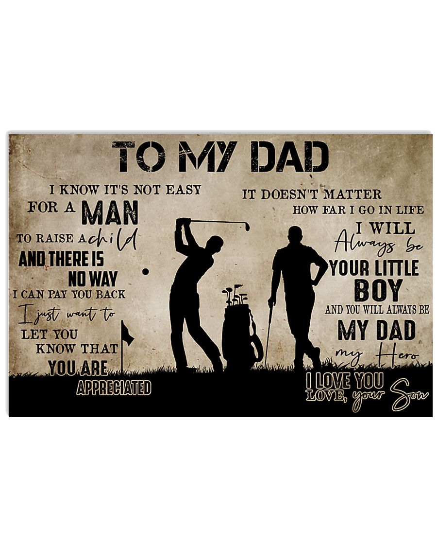To My Dad From Son Golf 24x16 Poster