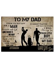 To My Dad From Son Golf 24x16 Poster front