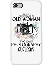 Never Underestimate Old Woman Photography January Phone Case thumbnail