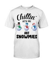 Chillin' With My Art Snowmies Classic T-Shirt front