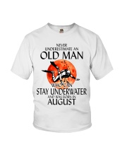 Old Man Stay Underwater August Youth T-Shirt thumbnail