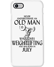 Never Underestimate Old Man Weightlifting July Phone Case thumbnail