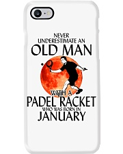 Never Underestimate Old Man Padel Racket January Phone Case thumbnail