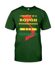 VIETNAM VETERAN - I GREW UP Classic T-Shirt front