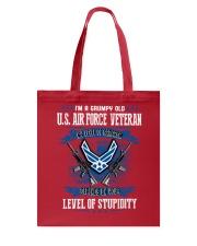 United States Air Force Veteran Tote Bag thumbnail